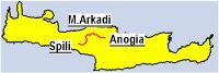 Spili- Gerakari- Moni Arkadiou- Anogia