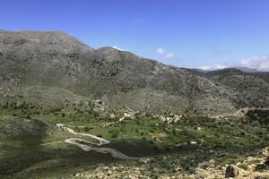 the road to the village asfendou - sfakia crete