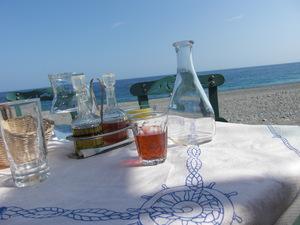 beach tavern at sougia - crete