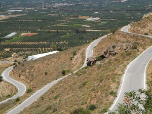 The Twisted Road Up In The Asterousia Mou