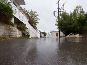 Geraki Village In The Rain