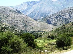 Alpine Landscape up To The Lassithi Plateau