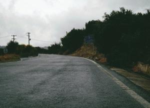 Leaving Mirtos In Pouring Rain