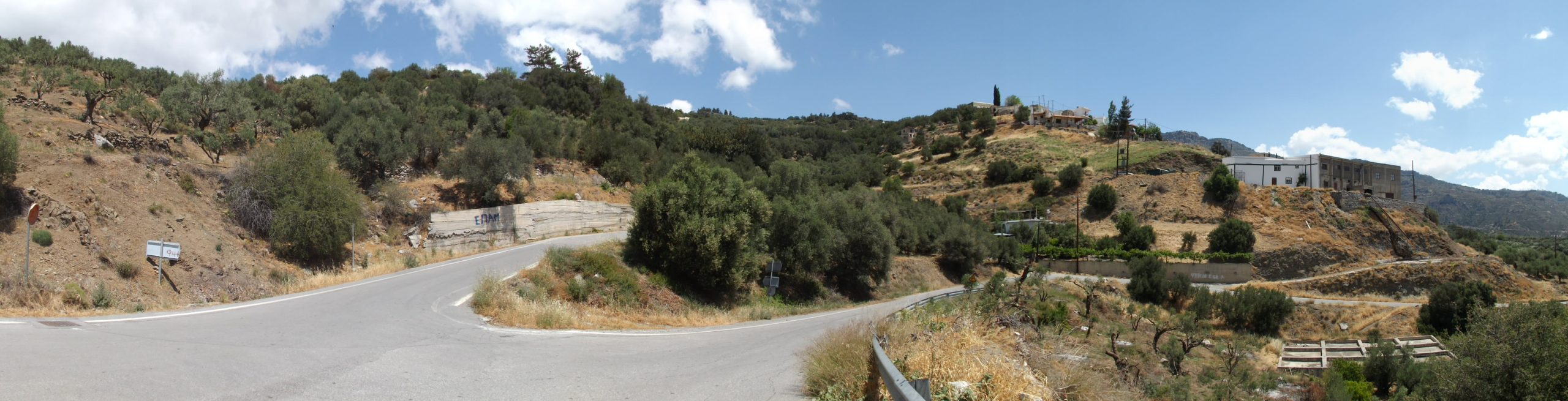 Outskirts Of Males - Road Junction To Mirtos